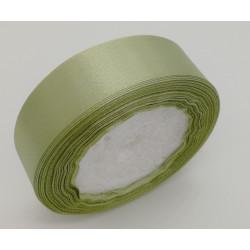 Лента атласная, 25 мм, зеленая