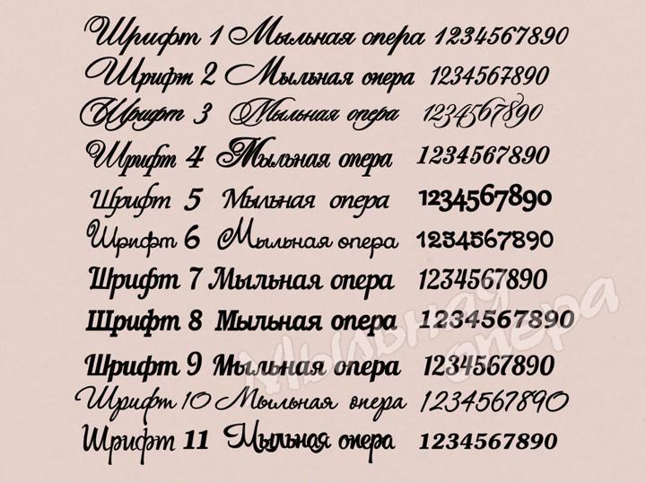 Шрифты для оформления